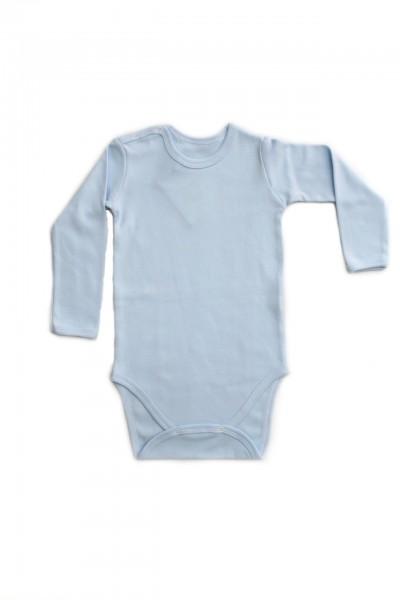 body maneca lunga rom baby bleu
