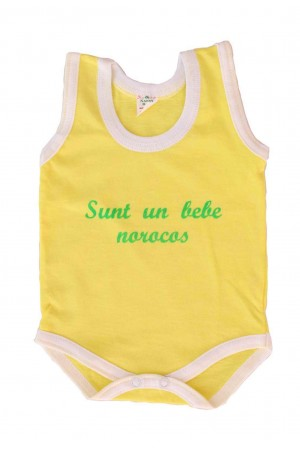 Body maiou galben mesaj sunt un bebe norocos