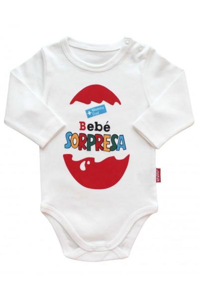 body bebe bumbac maneca lunga Bebe Sorpresa