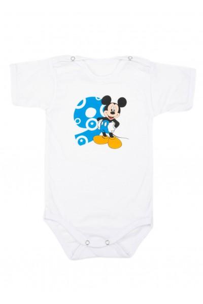 Body bebe bumbac mesaj aniversar 9 luni albastru