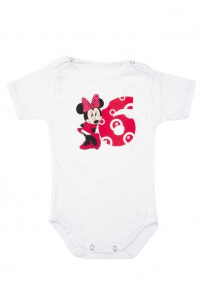 Body bebe bumbac mesaj aniversar 6 luni roz