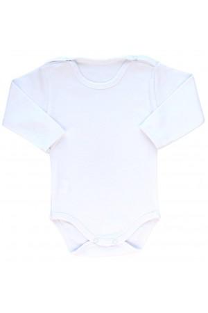 body bebe bumbac alb maneca lunga