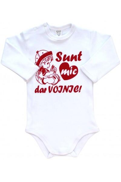 Body bebe bumbac alb sunt mic dar voinic