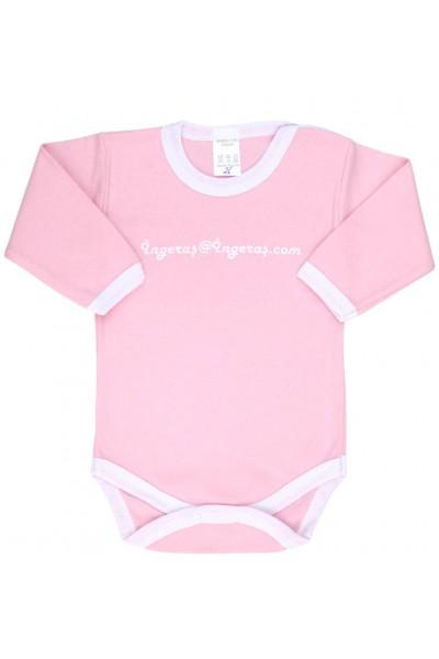 Body bebe bumbac roz ingeras ingeras
