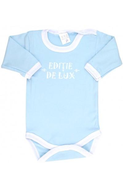 Body bebe bumbac bleu editie de lux