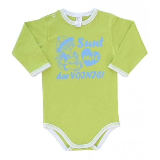 body bebe bumbac maneca lunga azuga vernil sunt mic dar voinic