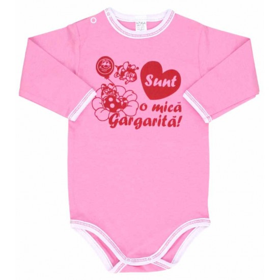 body maneca lunga azuga roz mesaj sunt o mica gargarita