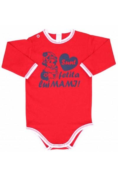 body maneca lunga azuga rosu mesaj sunt fetita lui mami