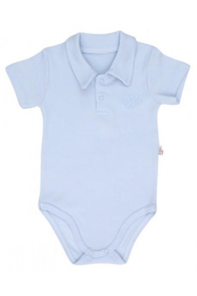 body bebe bumbac polo bleu