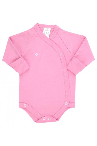 Body bebe bumbac petrecut roz