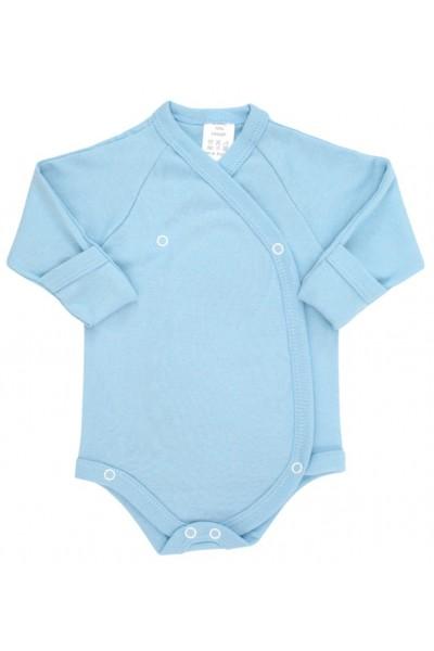 Body bebe bumbac petrecut bleu