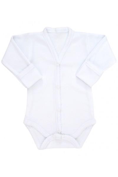 Body bebe bumbac alb margini dantelate