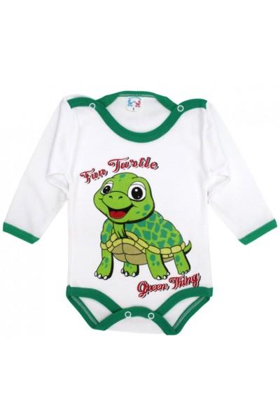 body bebe bumbac maneca lunga fun turtle