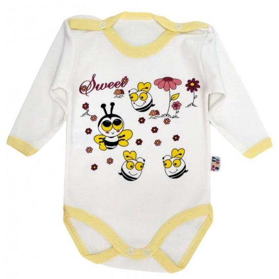 body bebe bumbac maneca lunga albinute