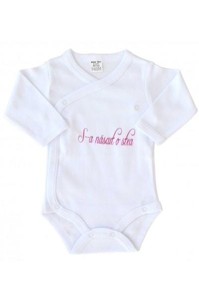 body bebe bumbac maneca lunga s-a nascut o stea