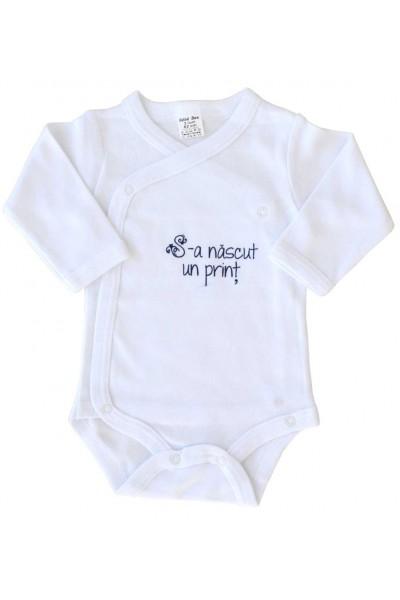 body bebe bumbac maneca lunga s-a nascut un print