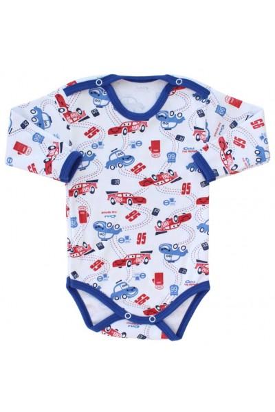 body bebe bumbac maneca lunga imprimeu masinute