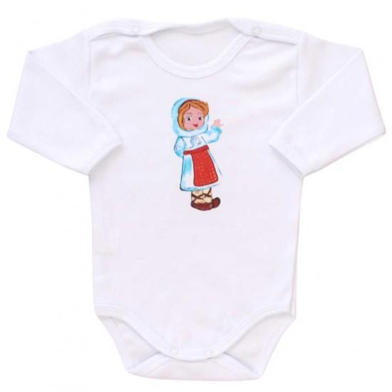 body bebe bumbac maneca lunga romancuta naframa bleu