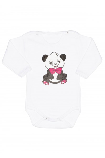 Body maneca lunga alb adonis panda