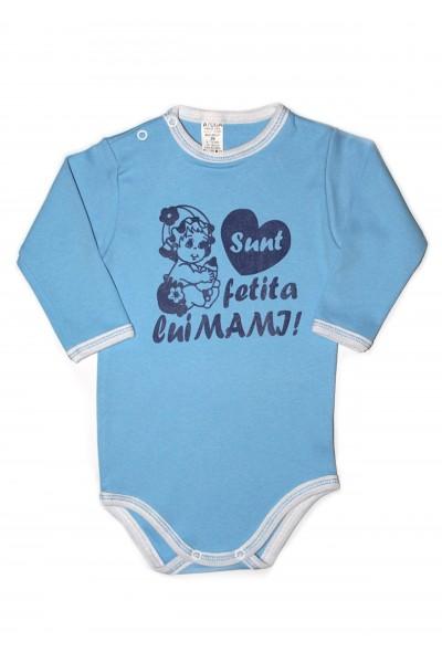 Body maneca lunga azuga bleu sunt fetita lui mami