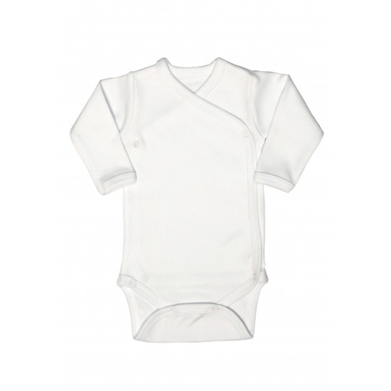Body maneca lunga petrecut rom baby alb