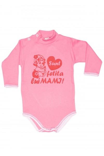 body maneca lunga azuga roz mesaj,,sunt fetita lui mami,,