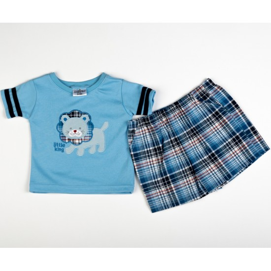 Costumas 2 piese little king albastru