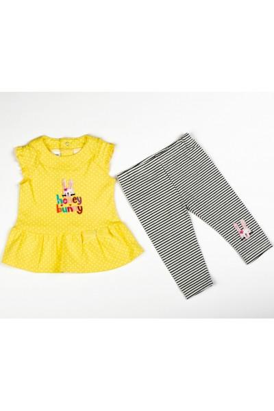 Costumas 2 piese fete yellow honey bunny Little baby M