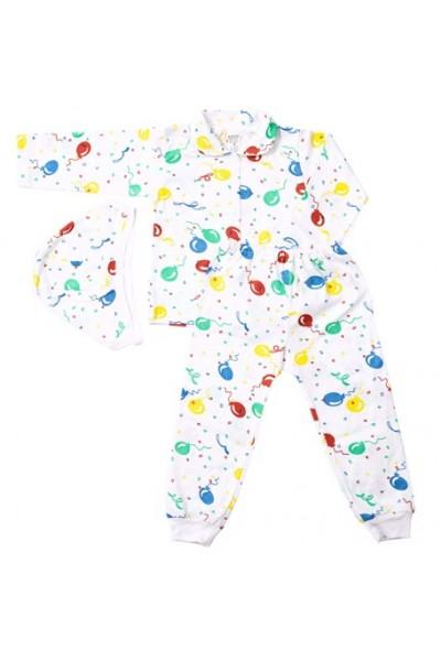 Compleu pijamale Azuga baloane colorate