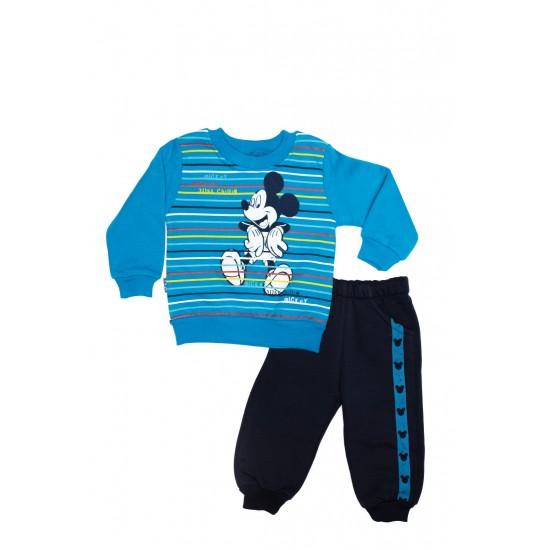 Costum copii doua piese ytm albastru electric