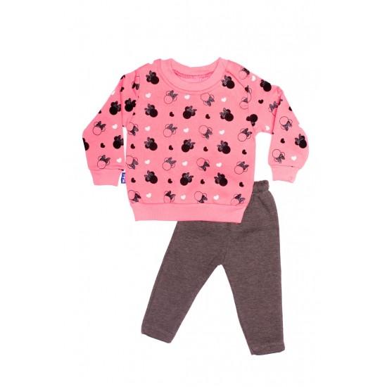 costum copii doua piese yakupbebe bluza roz