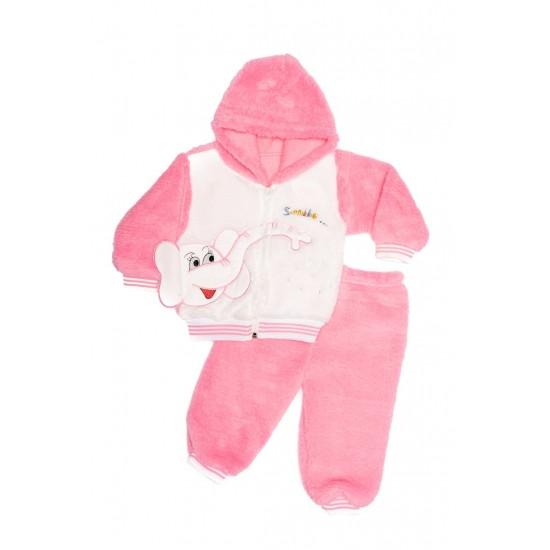 Costum copii cocolino canini roz imprimeu elefant