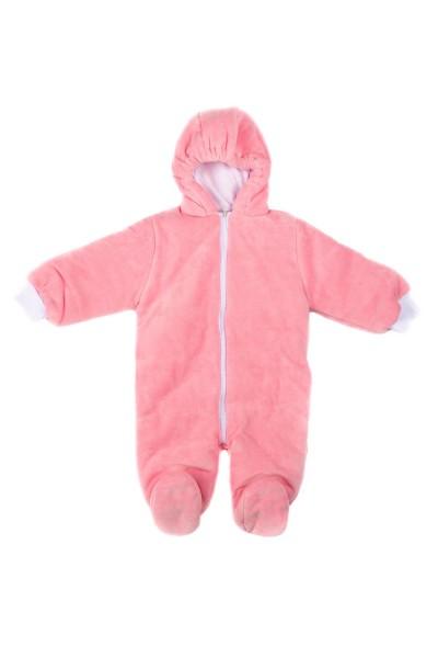 salopeta exterior cu botosel baby confex roz