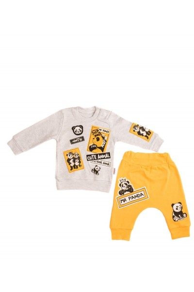 costum copii doua piese minitix galben