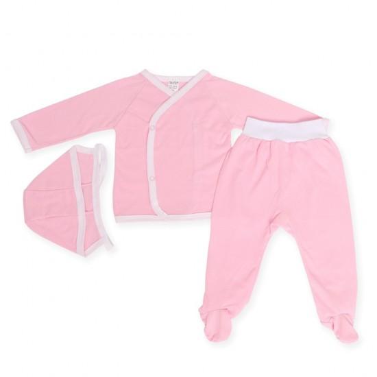 Costumas trei piese azuga iuni roz
