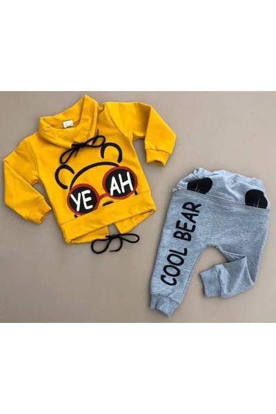 Compleu copii cool bear galben
