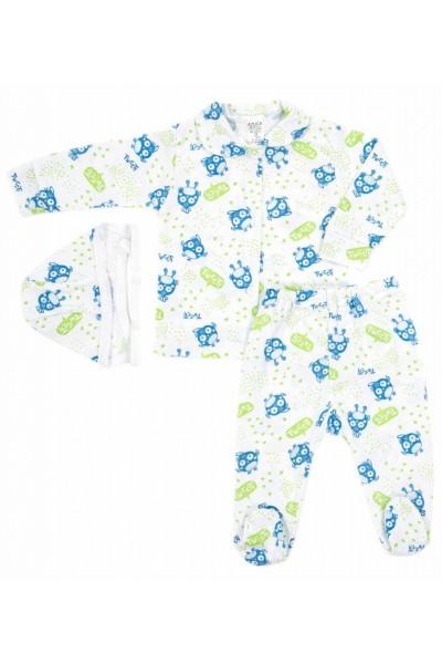 Compleu pijamale azuga tweet verde-albastru