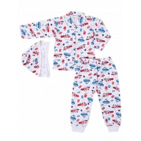 Compleu pijamale azuga masinute