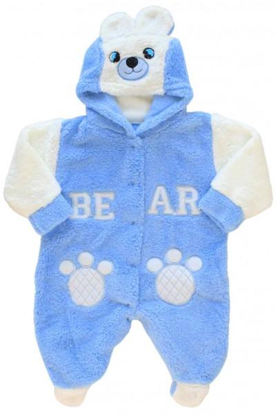 Salopeta cocolino bebe bleu ursuleti