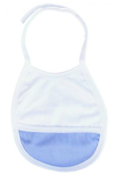 Baveta alb-albastru