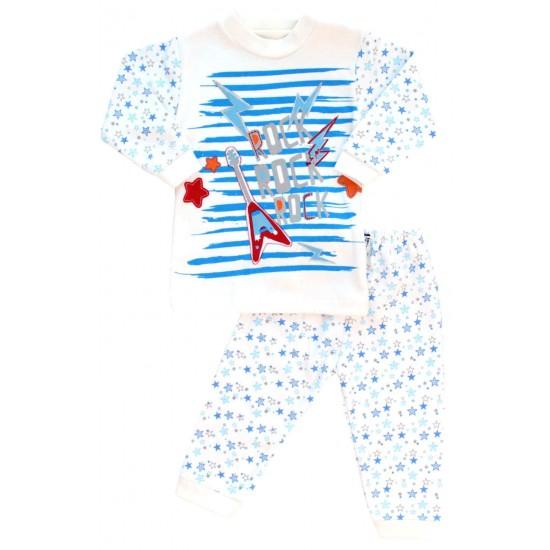 compleu bebe bumbac rock stelute albastre