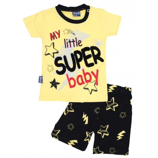 compleu baieti super-baby galben
