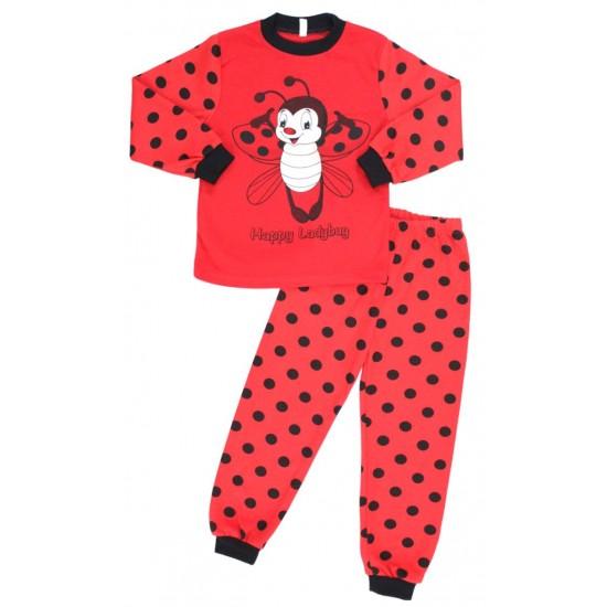 pijama copii bumbac buburuza