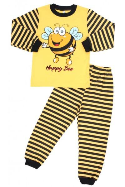 pijama copii bumbac albina