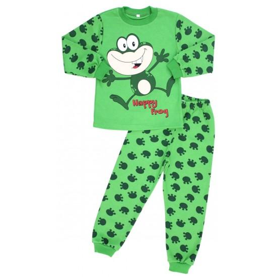 pijama copii bumbac broscuta