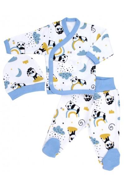 costumas bebe bumbac panda