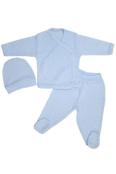 costumas bebe bumbac bleu