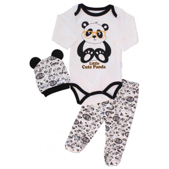 compleu bebe 3 piese panda