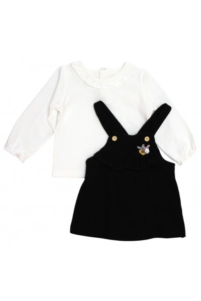 Set fetite bluza si sarafan negru