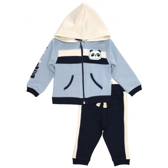 trening bebe bumbac baby panda bleu